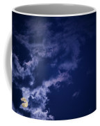 Cloudy Moon With Jupiter Coffee Mug