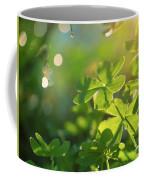 Clover Leaf In Garden, Macro Coffee Mug