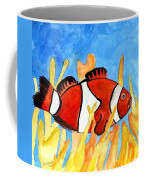 Clownfish Marine Sealife Art Print Coffee Mug