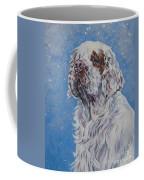 Clumber Spaniel In Snow Coffee Mug