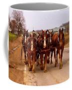 Clydesdale Amish Plow Team Coffee Mug