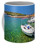 Coast And Beach Of Prvic Island Summer View Coffee Mug