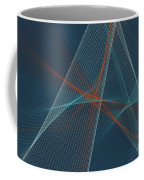 Coast Computer Graphic Line Pattern Coffee Mug