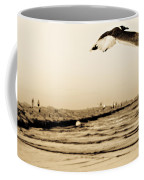 Coastal Bird In Flight Coffee Mug