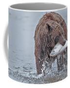 Coastal Brown Bear With Salmon  Coffee Mug