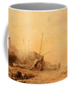 Coastal Landscape With Fisherfolk Coffee Mug