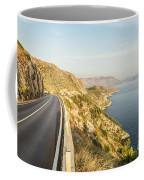 Coastal Road Near Dubrovnik In Croatia Coffee Mug