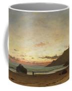 Coastal Scene With A Man And A Dog Coffee Mug