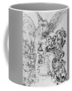Coat Of Arms With Open Man Behind Coffee Mug