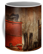 Cobbler - The Shoe Shiner 1900  Coffee Mug by Mike Savad