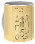 Coca Cola Bottle Patent Art 1937 Blueprint Drawing Coffee Mug