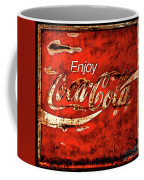 Coca Cola Square Soft Grunge Coffee Mug
