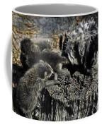 Cockapoo Tends Racoons Coffee Mug