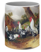 Cockerels In A Landscape Coffee Mug