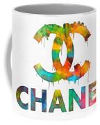 Coco Chanel Paint Splatter Color Coffee Mug