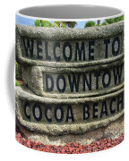 Cocoa Beach Welcome Sign Coffee Mug