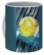 Coconut Milk Sorbet With Mango Sauce Vanilla Ice Cream Coffee Mug