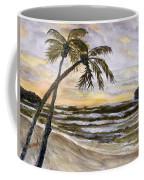 Coconut Palms On Cloudy Day Coffee Mug