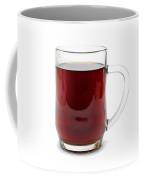 Coffee In Glass Mug Isolated On White Coffee Mug