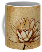 Coffee Painting Water Lilly Blooming Coffee Mug