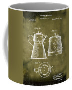 Coffee Pot Patent 1916 Grunge Coffee Mug