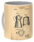 Coffee Pot Patent 1916 Sepia Coffee Mug