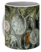 Coins And Bills Coffee Mug