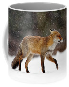 Cold As Ice - Red Fox In A Snow Blizzard Coffee Mug