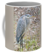 Cold Blue Heron Coffee Mug