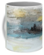 Cold Day Lakeside Abstract Landscape Coffee Mug