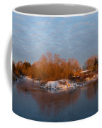 Cold Ice Warm Light - Early Winter Morning On The Lake Shore Coffee Mug