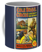Cole Bros Circus With Clyde Beatty And Ken Maynard Vintage Cover Magazine And Daily Review Coffee Mug
