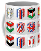 Collage Of Flags Of Different Nation  Coffee Mug