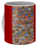 Collage Roof And Windows - The City S Eyes Coffee Mug