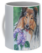 Collie With Lilacs Coffee Mug by Lee Ann Shepard