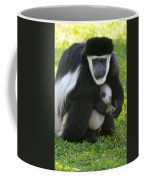 Colobus Monkey With Baby Coffee Mug