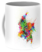 Colombia Paint Splashes Map Coffee Mug