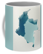 Colombia Simple Intrusion Map 3d Render Coffee Mug