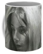 Portrait Of Woman In Charcoal Coffee Mug
