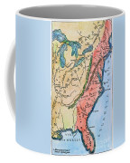 Colonial America Map Coffee Mug
