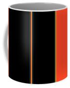 Color Block In Orange And Black Coffee Mug