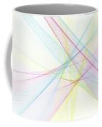 Color Computer Graphic Line Pattern Coffee Mug
