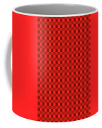 Color Dots On Red Drawing Abstract #7 Coffee Mug