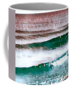 Color Movement-turquoise And Red Coffee Mug