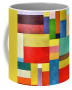 Color Panel Abstract With White Buttons Coffee Mug