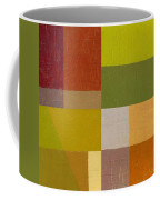 Color Study With Orange And Green Coffee Mug by Michelle Calkins
