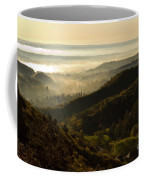 Colorado And Manitou Springs Valley In Fog Coffee Mug