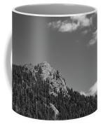 Colorado Buffalo Rock With Waxing Crescent Moon In Bw Coffee Mug