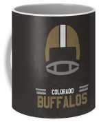 Colorado Buffalos Vintage Football Art Coffee Mug