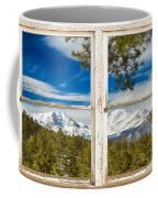 Colorado Rocky Mountain Rustic Window View Coffee Mug